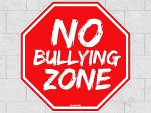 No Bullying Stop Sign On Wall