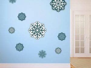 Wall or Window Snowflake Stickers