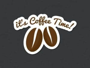 It's Coffee Time Quote Sticker