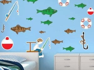 The Fisherman Restickable Fish Stickers