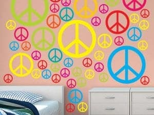 Peace Signs Restickable Wall Graphics