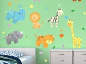 Zoo-Tastic Reusable Wall Stickers
