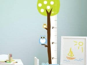 Owl Tree Removable Growth Chart
