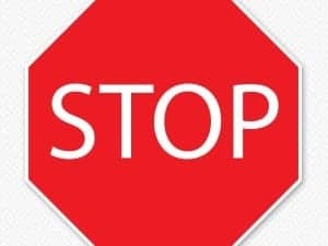 Restickable Stop Sign Sticker