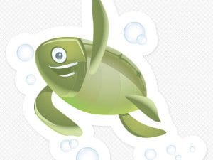Turtle Restickable Wall Graphic
