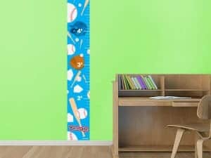 Kids Baseball Batter Up Growth Chart