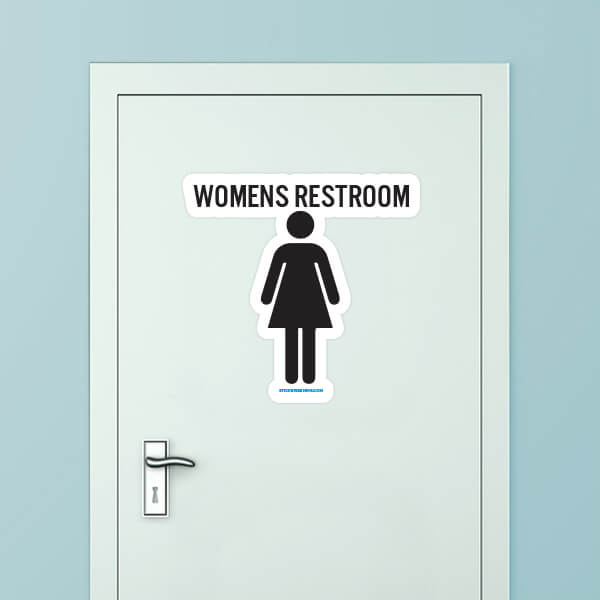 Women's Restroom Custom Door Graphic