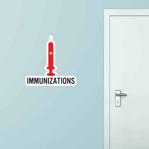 Immunizations Custom Wall Graphic