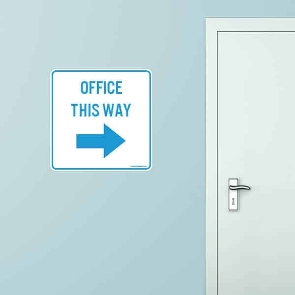 Office This Way Rounded Rectangle Wall Graphic
