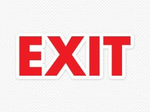 Exit Door Graphic
