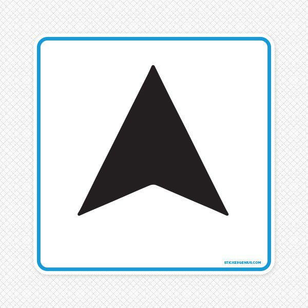 Up Modern Arrow Wall Graphic