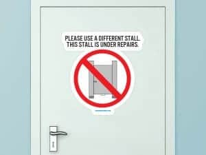 Please Use A Different Stall Custom Door Graphic
