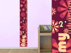 Retro Flower Growth Chart