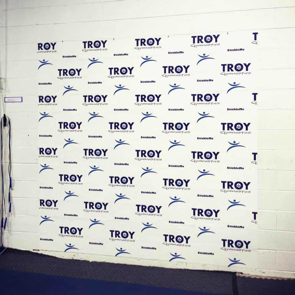 Removable Step and Repeat Wall Graphics