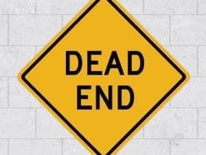 dead end wall sign stickleme