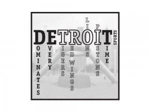 Detroit Sports Car Sticker Printed