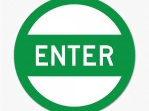 enter circle graphic sign decal sticker
