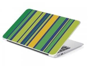 green line laptop skin removable device
