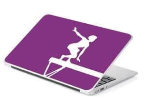 gymnastics beam balance laptop skin removable