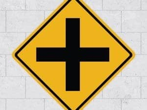 intersection wall sign stickleme sticker