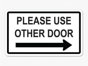 please use other door sign graphic sticker removable