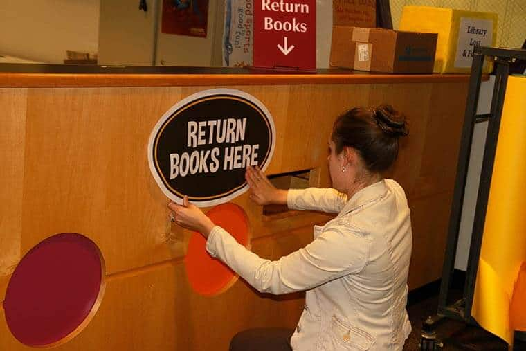 Book Return Library Sticker