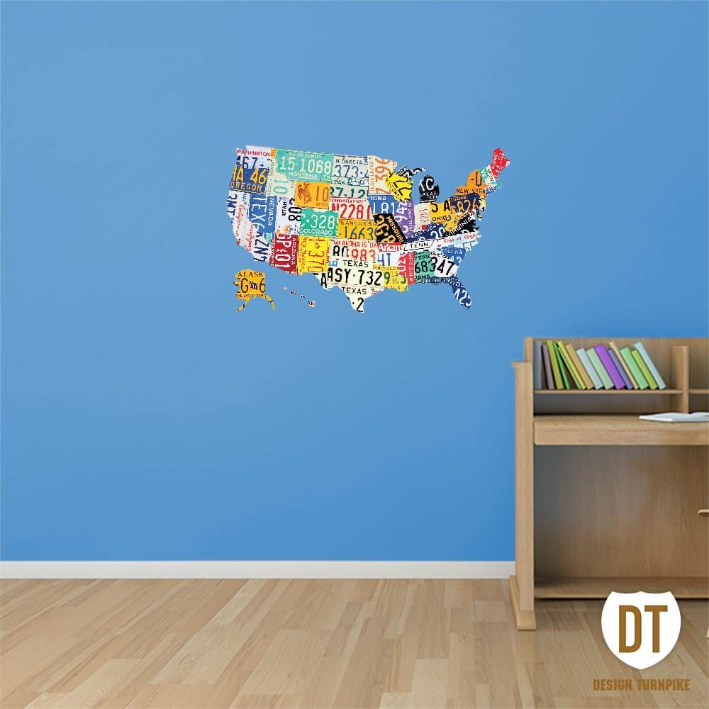 Wall Decal License Plate Art