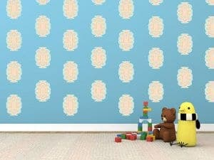 squiggle room decor wall decals graphics pastel