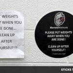 Repositionable Sticker Signs
