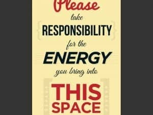 Positive Energy Wall Quote