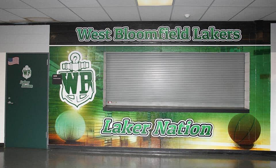 Sports Wall Mural For School Concession Stand