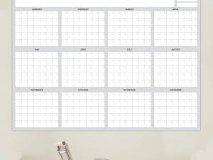 Full 12 Month Dry Erase White Calendar