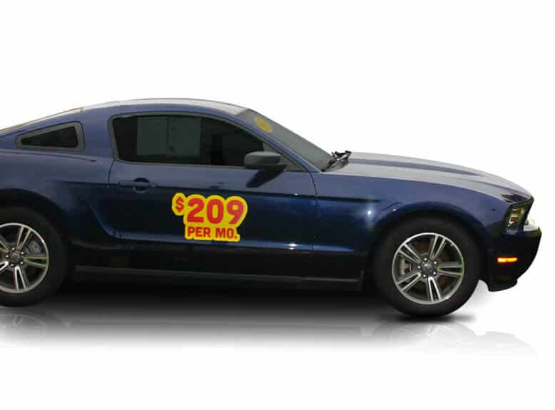 Mustang Car With Stickers